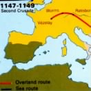 The path of the Second Crusade