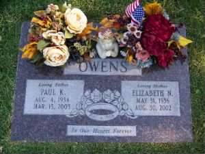 Paul Owens, Mission City Cemetery