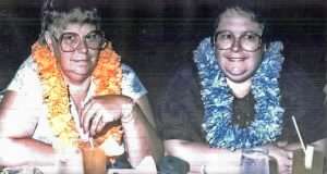 Evelyn Watkins and Elizabeth Owens, (Maiden name:Conway), twins