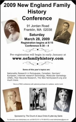2009 New England Family History Conference Poster