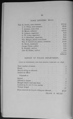 Police report for 1897-1898