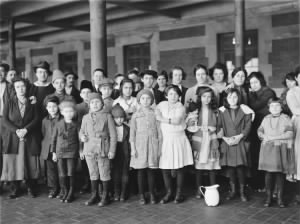 Children at Ellis Island