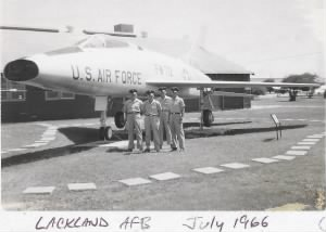 Lackland group photo in front of fighter jet.jpg