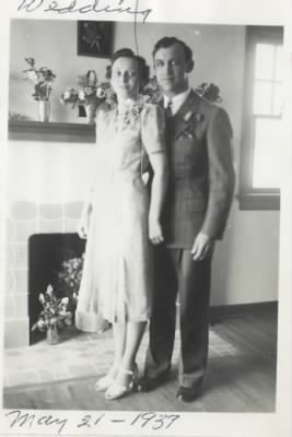 Wedding photo of Alex and Ida (Arnold) Butherus