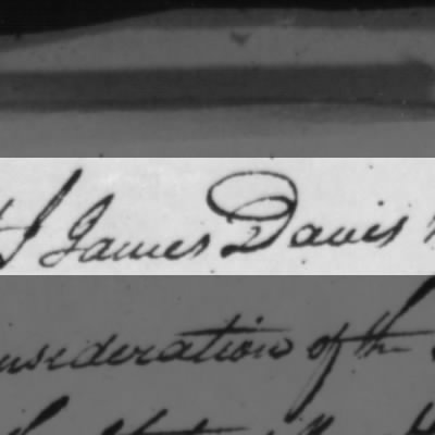 James Davis 1812 power of atty ?
