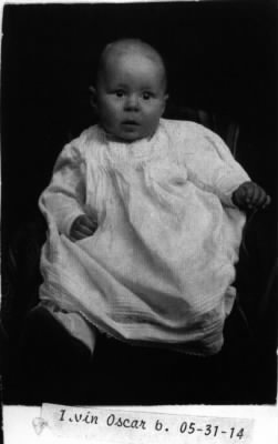 Irvin Oscar Elmlund as an infant