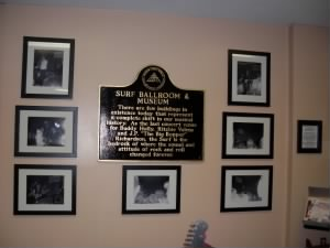 Plaque at Surf Ballroom