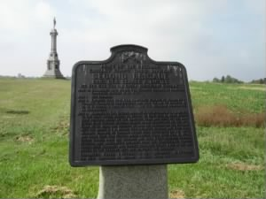 Custer's plaque at Gettysburg Battlefield