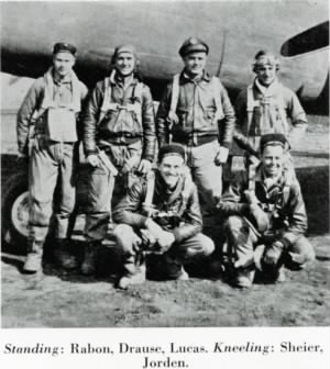 "Lt ""Mel"" Scheier, Pilot of the B-25 and his CREW. MTO"