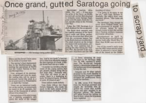 USS Saratoga News Article