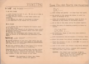 "Leaflet, ""Wanted: Picketers"" - March 1960"