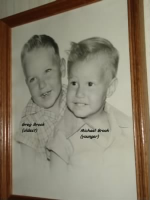 Pat and Ernie Brook' children, Greg and Mike