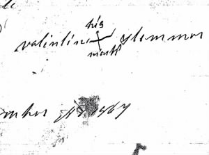 Valentine Slemmer mark on will 1867