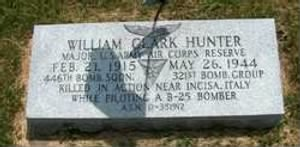 Wm C Hunter, Maj. KIA 26 May, 1944, Shot-down over Target, Italy