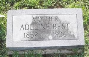 Adeline Best (Hulting) - Headstone