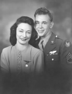 T/Sgt Leslie J Hansen and his wife, Bette Hansen