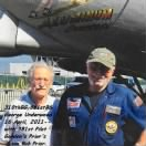 310thBG,381stBS L) George Underwood with Lt Gordon's son BOB Prior, Crew of B-17