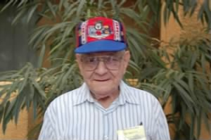445th Crew Chief, Fred Lawrence at the 2008 Reunion of the 57th Bomb Wing
