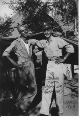 US Army Infantry (Nephew) James Ennis and US AAC (Uncle) Edward Ennis, Italy, 1943