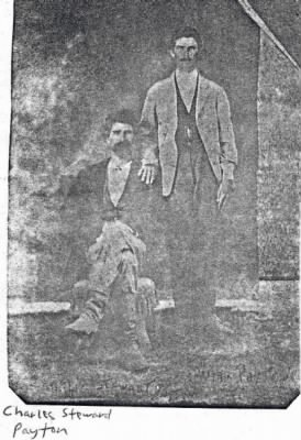 James Wesley Payton (Standing) & brother Charles Stewart Payton (Sitting)