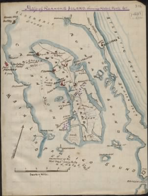 Map of Roanoke Island showing Rebel forts. › Page 1 - Fold3.com