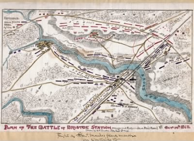 Plan of the Battle of Bristoe Station, Orange and Alexandria Railroad, Va., Octr. 14th 1863. › Page 1 - Fold3.com