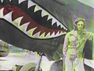 GTK and Tiger Shark plane - colorized  Flying Tigers