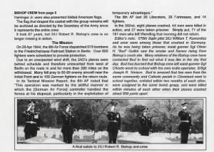 PAGE THREE, Bishop Loss, B-24 Crew, Arlington Cemetery Ceremony