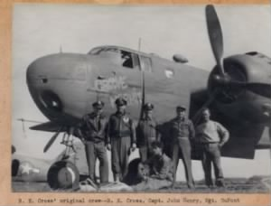 The B-25 GROOVE HERMET and her Crew, Bonham Cross Photo
