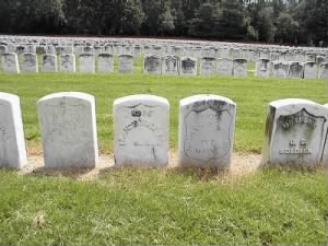 Graves at Andersonville National Cemetery