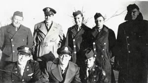 "Photo taken of the Emmet crew by Francis ""Jerry"" Adkins in fall of 1944"