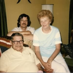 Lois A. Moore with husband E. Douglas Moore and son Donald James Moore