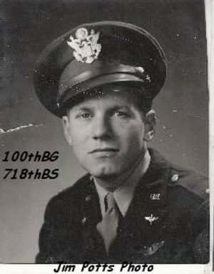 Jim Potts Friend, ____, 100th Bomb Group /England, B-17's