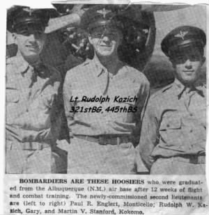 """HOOSIERS"" Lt Kazich graduated from Albuquerque, NM as a Commissioned Bombardier"