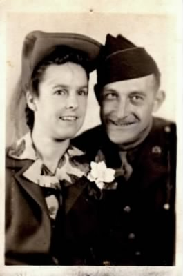 Earl R Lowery Sr & Wife; Deenie in 1944
