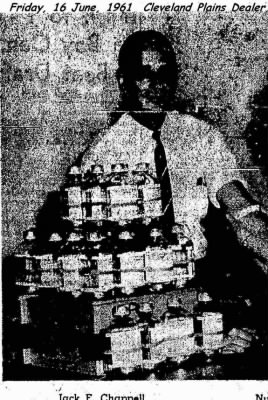 """Jack F Chappell, """"Gives a TOWER of pints of blood!""""  1961"""