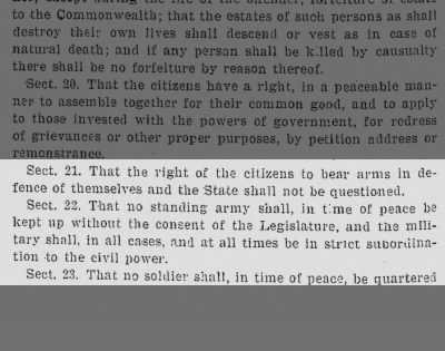 Right to bear Arms July 15, 1776