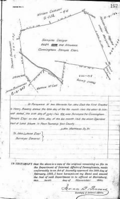 Cunningham Sample 1766 York Co Land Survey.JPG