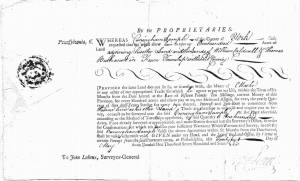 Cunningham Sample 1766 Land Warrant.jpg