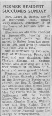 Laura R Beatty 1953 Obit.JPG