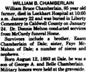William Bruce Chamberlain 1978 Death Notice.JPG