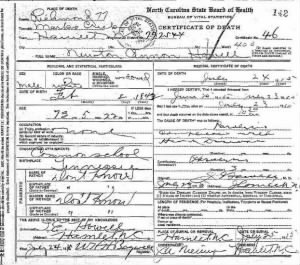 Newton C Howell 1915 NC Death Cert.JPG