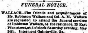 Robinson Wallace 1890 Funeral Announcement.JPG