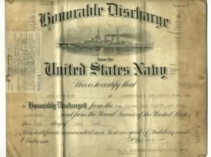 John Montgomery US Navy Discharge 14 June 1945 1