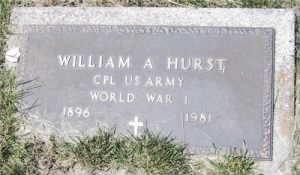 William A Hurst footstone