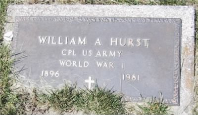 William A Hurst footstone - Fold3.com