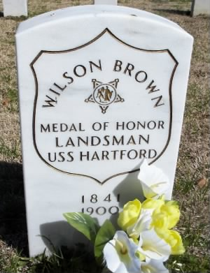 Landsman Wilson Brown Navy Headstone