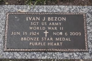 Sgt Ivan James Bezon Army Headstone