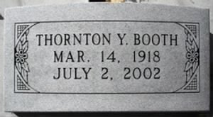 Thornton Young Booth Gravemarker