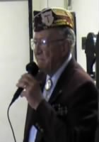 Vince Pale as a guest speaker at a WWII - POW/MIA Candlelight Service